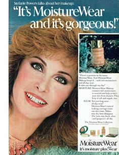 1981 Advertisement Stefanie Powers for MoistureWear Makeup by Cover Girl TV Star Cosmetics Beauty Style Celebrity Wall Art Decor Red Wall Art, Wall Art Decor, Beauty Style, Fashion Beauty, Cover Girl Makeup, Celebrity Perfume, Retro Makeup, 80s Tv, Cover Style