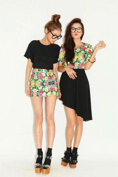 socks and sandals...skirt floral top hipster tumblr shorts