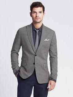Tailored-Fit Cotton/Linen Blazer Product Image