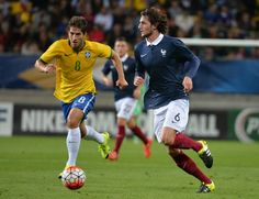 """""""Lucas Silva during friendly match between Brazil Olympic NT and France U21 NT in Le Mans, France 