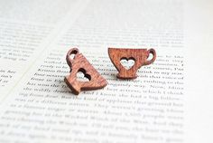 These wooden earrings. | 19 Items Every Tea Lover Will Want To Keep For Themselves