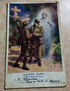 Sent at Easter to the Front WW1.
