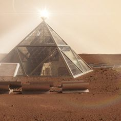 Pyramid and human 'beehives' designed for Mars dwellers (Wired UK)