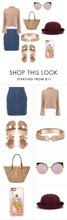 """Iced tea"" by alexandrad2004 ❤ liked on Polyvore featuring Balmain, Proenza Schouler, Straw Studios, Fendi and Casetify"