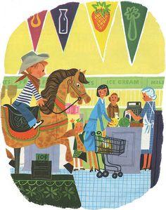 Love illustrations of supermarkets :)