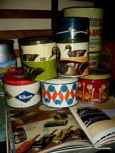 Scrap da AnaCaldatto: Antigas latas sorvete Kibon