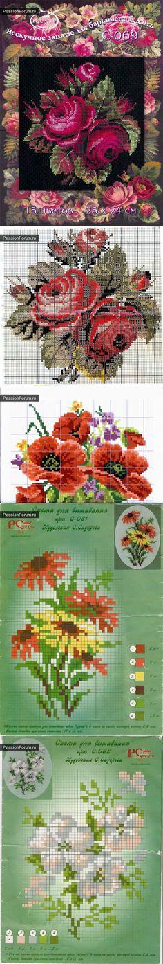 Цветы / Схемы вышивки крестиком