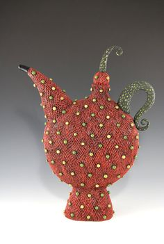 Strawberry  Teapot by natalyasots on Etsy, $495.00