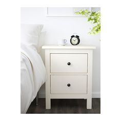 $100 | HEMNES 2-drawer chest IKEA The drawer insert is perfect for small things.