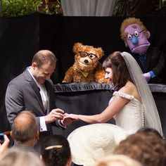 If a priest or judge won't do, there are plenty of routes to find an above-average officiant for your ceremony. Persuade a loved one to be ordained and have them arrive in a unique way, be it in a pop culture costume or by having a puppet parade in tow.Related: 10 Meaningful Touches for Your Wedding Ceremony