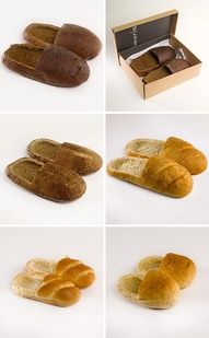 Loafers hilarious gag gift christmas gifts pinterest idei talk about keeping your feet warm toastie these slippers are made from bread rolls solutioingenieria Images