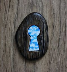Keyhole/Door keyhole/Door Lock/Blue sky/Welcome to paradise/Doors of paradise/Rock Art/Painted stones/Painted stone/Stone art/Painted pebble