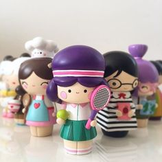 Anyone for tennis? Ace by Momiji Momiji are message dolls Momiji Doll, Tennis Gifts, Kawaii Doll, Mystery Minis, Designer Toys, Miniture Things, Purple Hair, Beauty Ideas, Thesis
