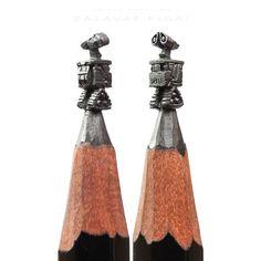 #SalavatFidai carves miniature artworks onto the tips of lead pencils.