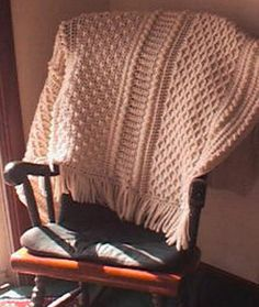 Stop, you'll definitely want to check out this crochet blanket pattern. Nothing can give you quite as much texture as a cable crochet pattern and this Aran Afghan certainly doesn't disappoint. Crochet Afghans, Crochet Cable, Manta Crochet, Tunisian Crochet, Knit Or Crochet, Crochet Crafts, Crochet Stitches, Crochet Projects, Crochet Blankets