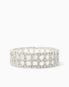 Rhinestone Windows Bracelet | UPC: 410006669079 #charmingcharlie #acharmedwedding