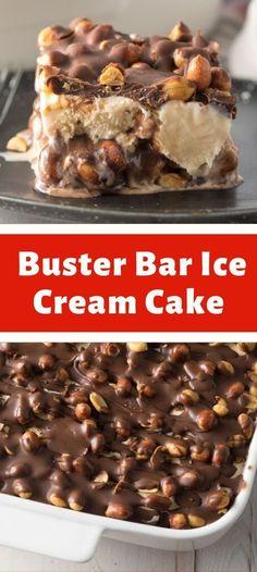 Ice Cream Pies, Ice Cream Treats, Ice Cream Desserts, Köstliche Desserts, Frozen Desserts, Ice Cream Recipes, Chocolate Desserts, Delicious Desserts, Dessert Recipes