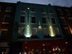 #London #building #blue #lights #magiceffects