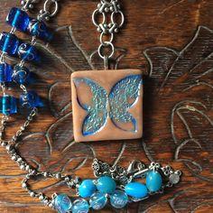 Blue Butterfly Necklace Butterfly Jewelry Beaded Butterfly Necklace Long Necklace Nature Lover Insect Necklace Butterfly Pendant Necklace by necklacesbycasey on Etsy https://www.etsy.com/listing/501906166/blue-butterfly-necklace-butterfly