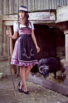 1e6626e3b9d80 Love the stags on her apron - Mademoiselle Anouk - Herbst/Winter by leila