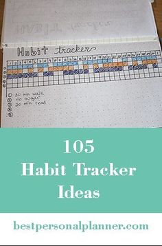 105 Habit Tracker Ideas, how to change a habit and build up a better life, FREE printable habit tracker, Bullet Journal Diy, Bullet Journal Inspiration, Journal Prompts, Better Life, Planners, Free Printables, How To Get, Change, Lifestyle