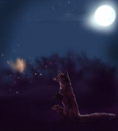 ..I love glowingg 8P ______ Musela som nakreslit nieco svietiace tak som nakreslila jeden kus svietiaceho vlcika ...uzasne