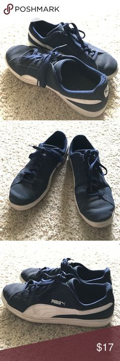 Puma Smash Buck Sneakers Puma Smash buck sneakers. In good shape. Size 9.5. Color Navy blue. ✅comes from a smoke/pet free home. ✅open to a reasonable offer. Puma Shoes