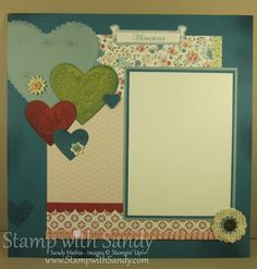 April 2012 Scrapbook Pages, Page One Stampin Up