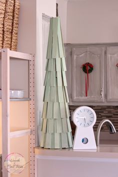 Painted shim Christmas trees are a great addition to your holiday decor or alternative to a real or artifical tree!