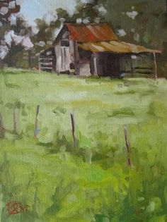 Palmetto Barn, 229, painting by artist David Boyd, Jr
