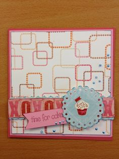 Scrapbooking card time for cake