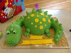 Dinosaur first birthday cake at party!