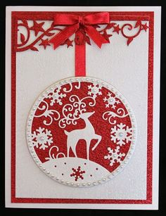 Love this ornament card...