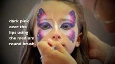 Easy Butterfly FACE PAINTING - MAQUILLAGE POUR ENFANTS, via YouTube.