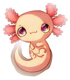Axolotl by Fox-feathers.deviantart.com on @deviantART