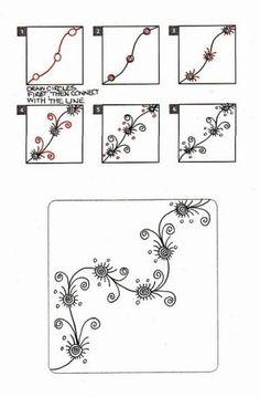 Zentangle vine #zentangle #art: