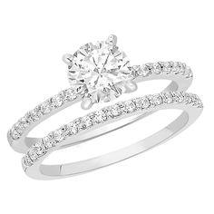 Classic Diamond and Platinum Wedding Set | via Sam's Club?