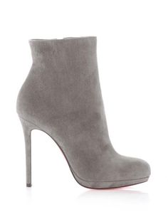 0c540da95c6d Christian Louboutin Bootylili 120mm suede ankle boots Shoes Boots Ankle