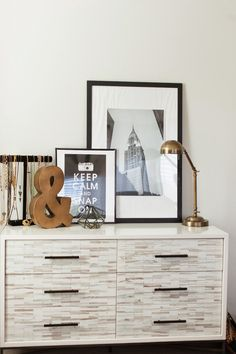 Wood Tiled 6-Drawer Dresser from west elm
