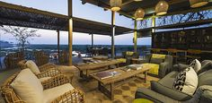 The lounge, bar and dining area overlooks the Linyanti Marsh