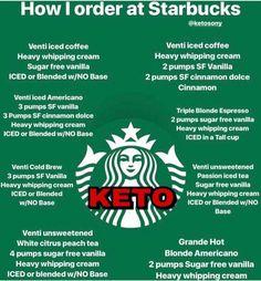How to order Keto at Starbucks! Screenshot and save! >>> Lose several lbs with keto life. Starbucks Hacks, Low Carb Starbucks Drinks, Café Starbucks, Low Carb Drinks, Starbucks Recipes, Healthy Drinks, Healthy Starbucks Food, Secret Menu, Taste Of Home