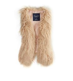 AE Shaggy Faux Fur Vest maybe a large so it fits over flannels?