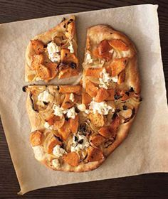 butternut squash pizza. just made this for dinner tonight on gluten free dough. it was amazing.