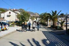 Promenade at Igalo during days of mimoza at February,