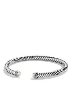 David Yurman Cable Classics Bracelet with Pearls & Diamonds | Bloomingdale's