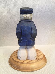 Hand Carved Handmade Old Salty Sea Captain Wood by RWKWoodcarving