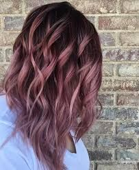 Image result for balayage dusty pink