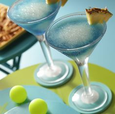 Blue Hawaiian: #pinacoladamixer , #frozen , #recipe , #cocktail , #rumdrink , #summer , #drink