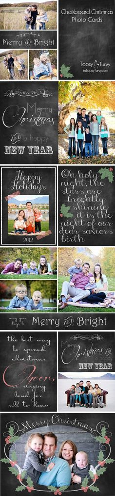 Free Chalkboard Photo Christmas cards
