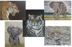 Pastel Artwork, Pastel Paintings, A6 Size, Paper Goods, Lion Sculpture, Wildlife, Greeting Cards, Handmade Gifts, Etsy Shop